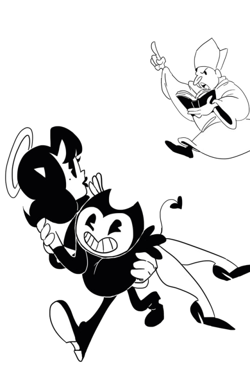Bendy esacepo with Alice from the Bishop by ziomal1987