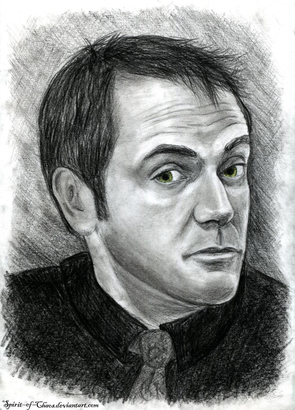 Crowley (charcoal) by SpiritusChaos