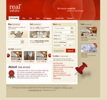 Real estate template by bevel-and-emboss