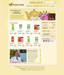Herbal site template by bevel-and-emboss