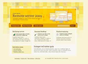 Yellow website design template