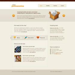 Crisp website template