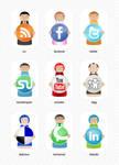 Social bookmarking character s