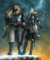 Gulvyr and Luna (Commission) by KaRolding