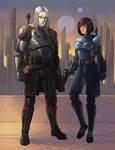 Koji and Selvaria (Commission)