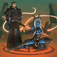 Darth Verit and Apprentice (Commission) by KaRolding