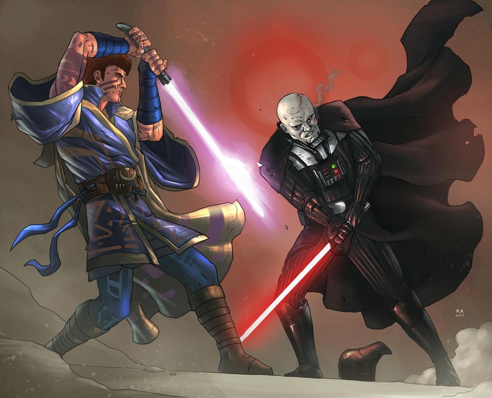 Frostblazer vs Vader (Commission) by KaRolding