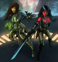Shevla and Raith (Commission) by KaRolding