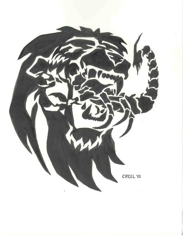 Lion Eats Scorpion By Mr Ss On Deviantart