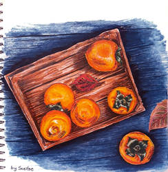 Persimmon in the box by fomhar-orga