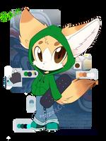Benji the fennec fox -ref-  by MirzaKCM
