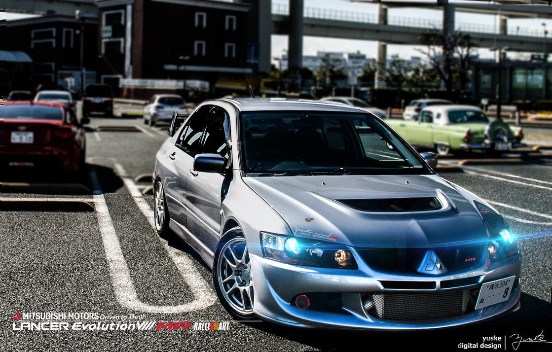My EVO8 at the Yokohama Bay Bridge by YuskeDigitalDesign