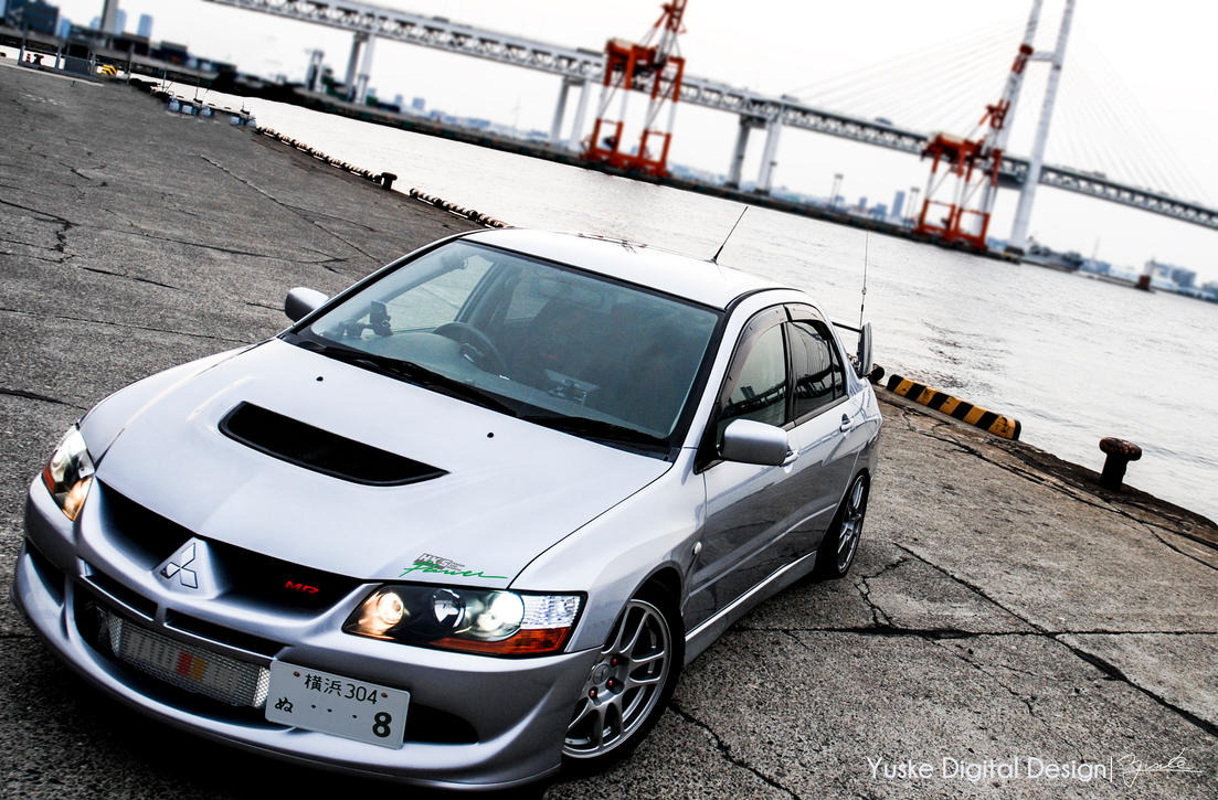 EVO8 MR at Honmoku Bay by YuskeDigitalDesign
