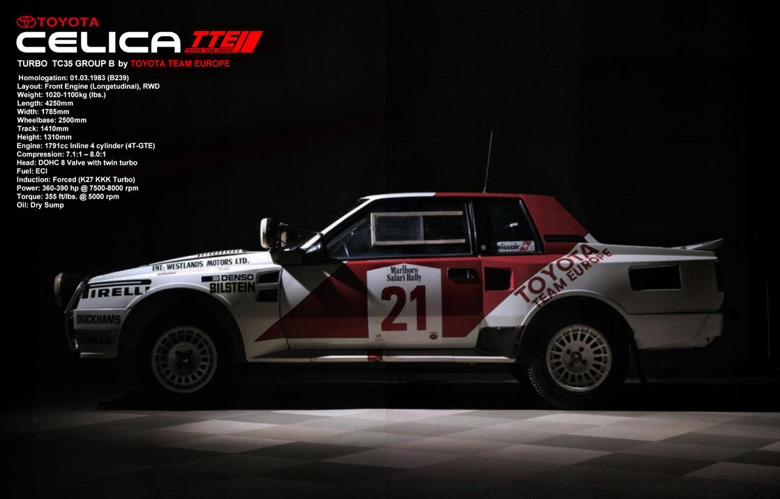 Toyota WRC GroupB Celica by YuskeDigitalDesign
