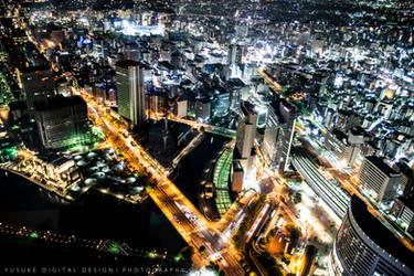 Emeralde city, Yokohama Japan by YusukeDigitalDesign