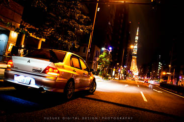 EVO8 with Tokyo Tower by YusukeDigitalDesign