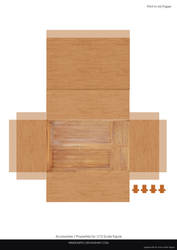 Wood Cabinet Papercraft 1/12 scale