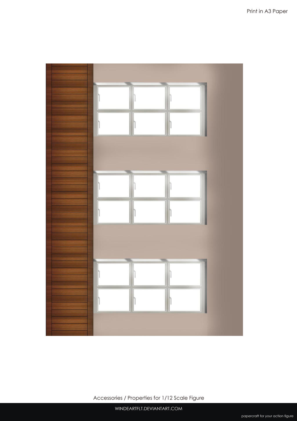 Wall Classroom for 1/12 scale figure