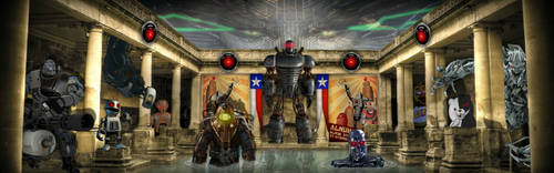 Robots In Rome by WorldspawnTCS