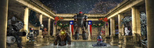 Robots in Rome Christmas by WorldspawnTCS