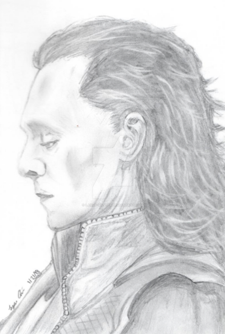 Loki tom hiddleston pencil drawing by laxus master
