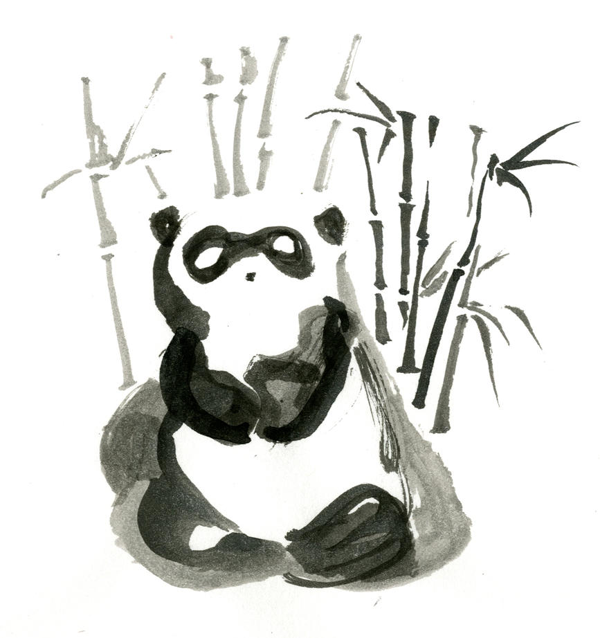 Inktober day 2: Panda by LiimLsan