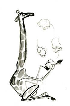 Inktober Giraffe