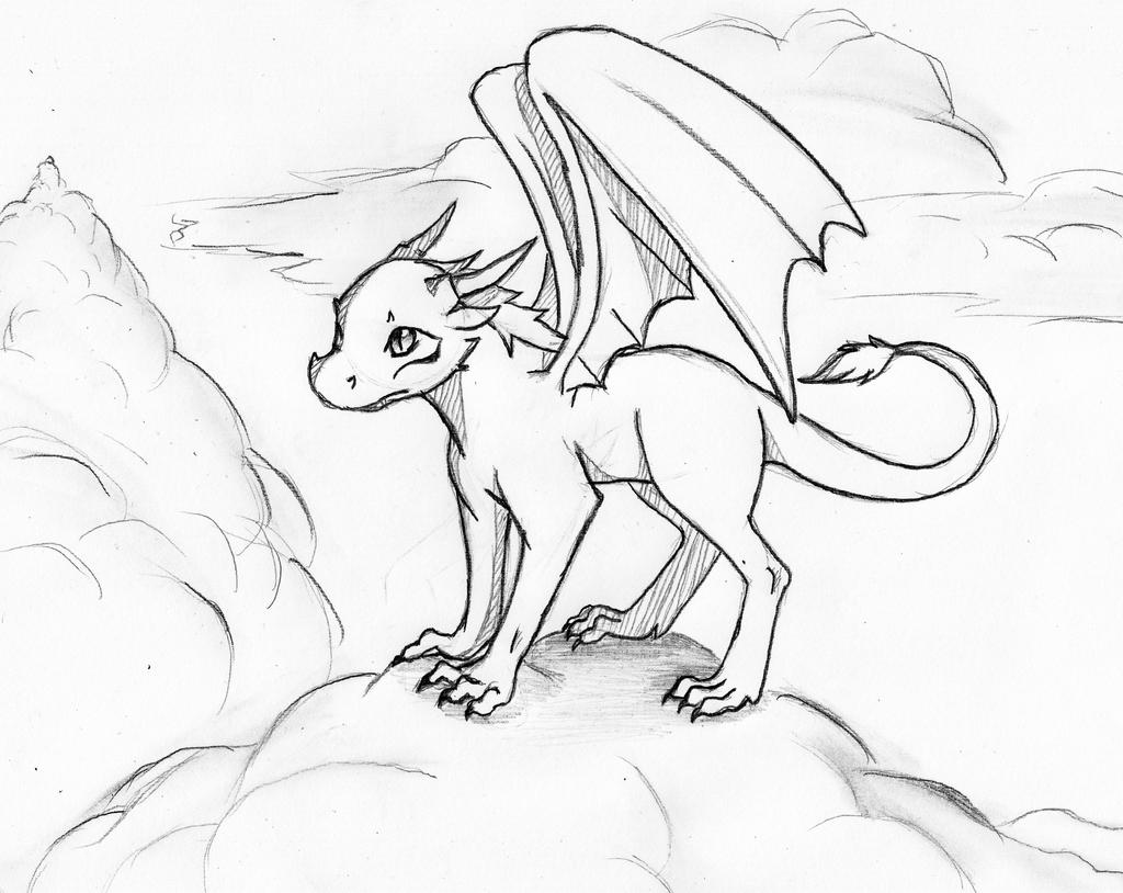 cute dragon adopt lineart closed by akumademonofnight on