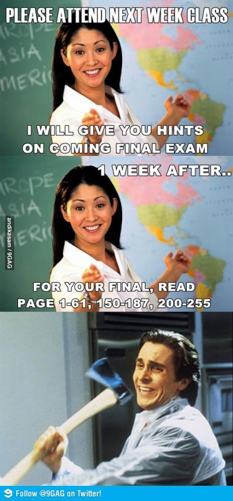 Unhelpful Teacher Meme Origin
