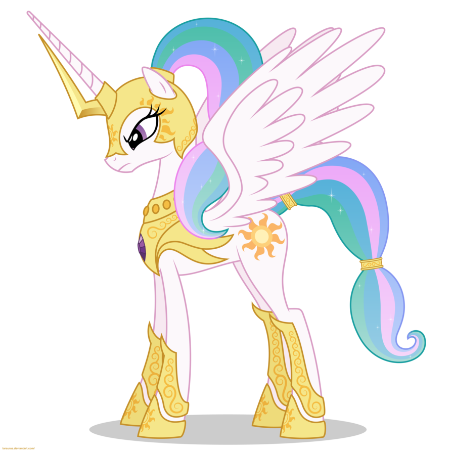 Celestia In Armor   Png By Larsurus-d5oc007 by soarindashlover