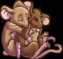 Mouse hug by JuKii