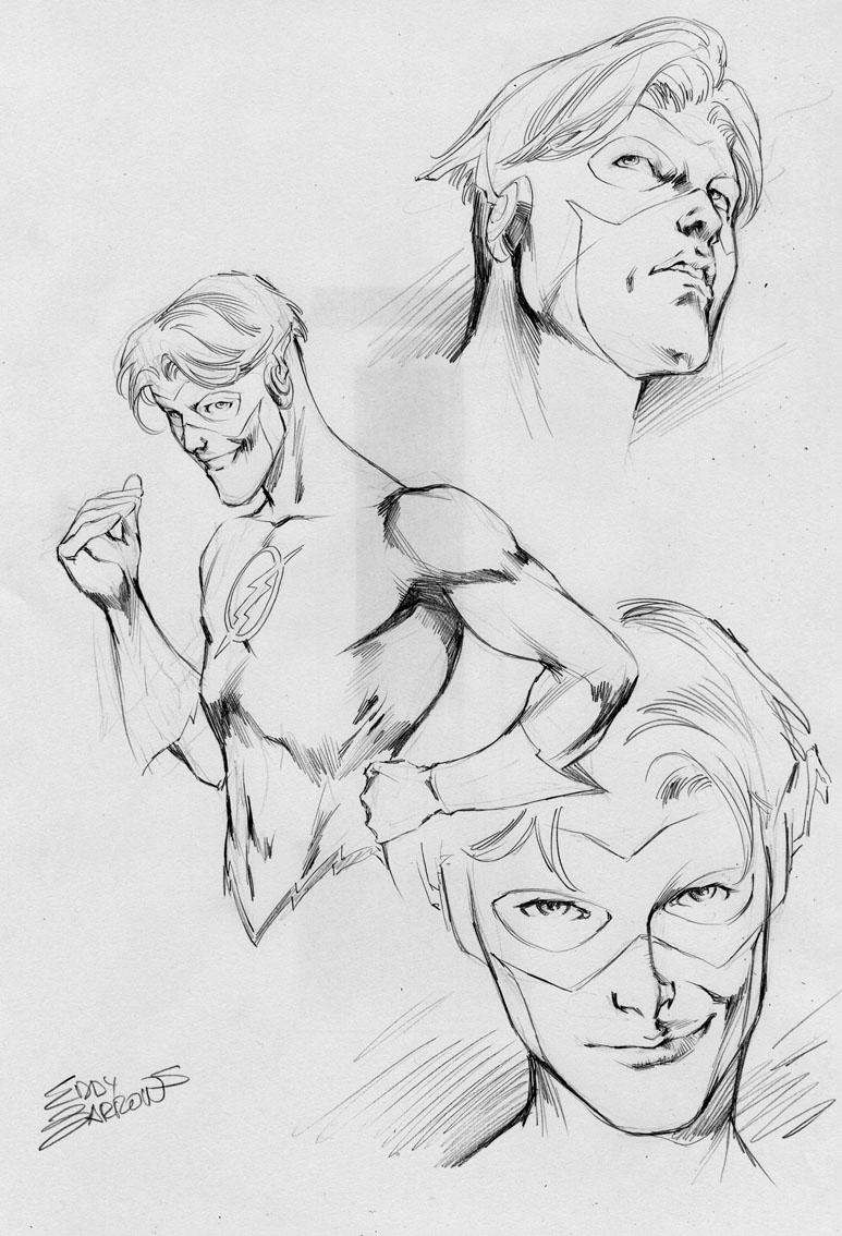 Kid Flash art review by eddybarrows