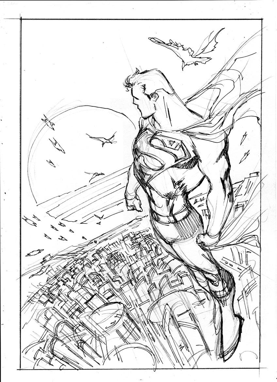 SUPERMAN NEW KRIPTON 6 LAYOUT by eddybarrows