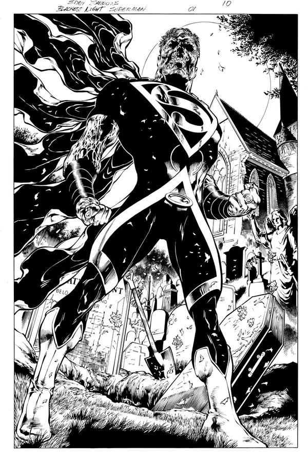BLACKEST NIGHT SUPERMAN 1 by eddybarrows