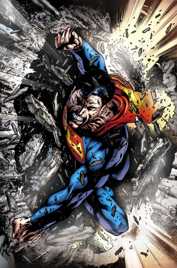 New artist of the Superman by eddybarrows