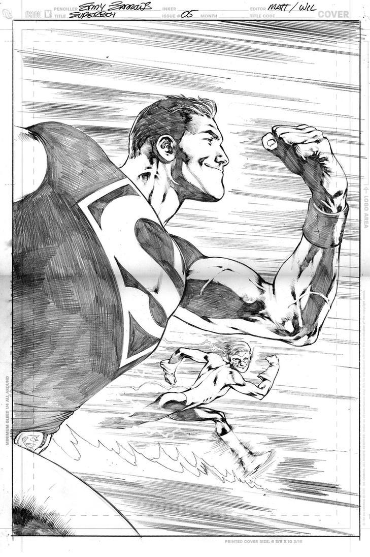 SUPERBOY 5 COVER by eddybarrows