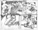 SUPERBOY, DOUBLE PAGE 6 AND 7