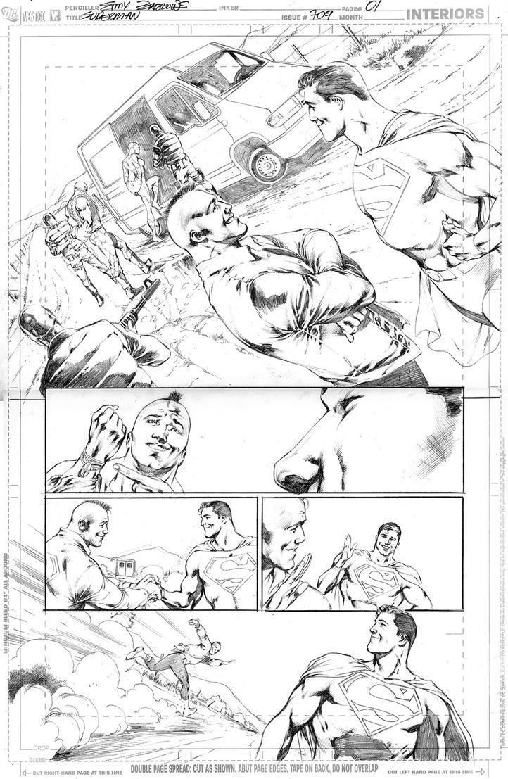 SUPERMAN 709, PAGE 01 by eddybarrows