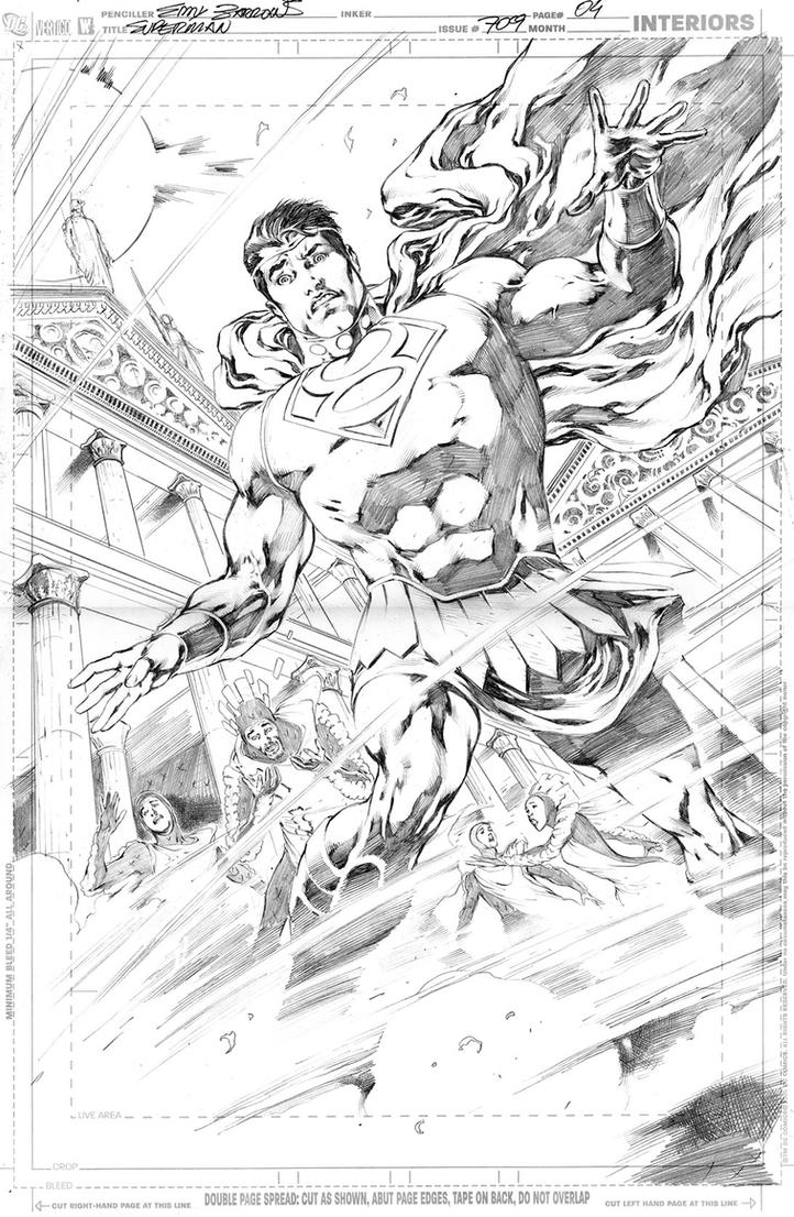 SUPERMAN 709, PAGE 04 by eddybarrows