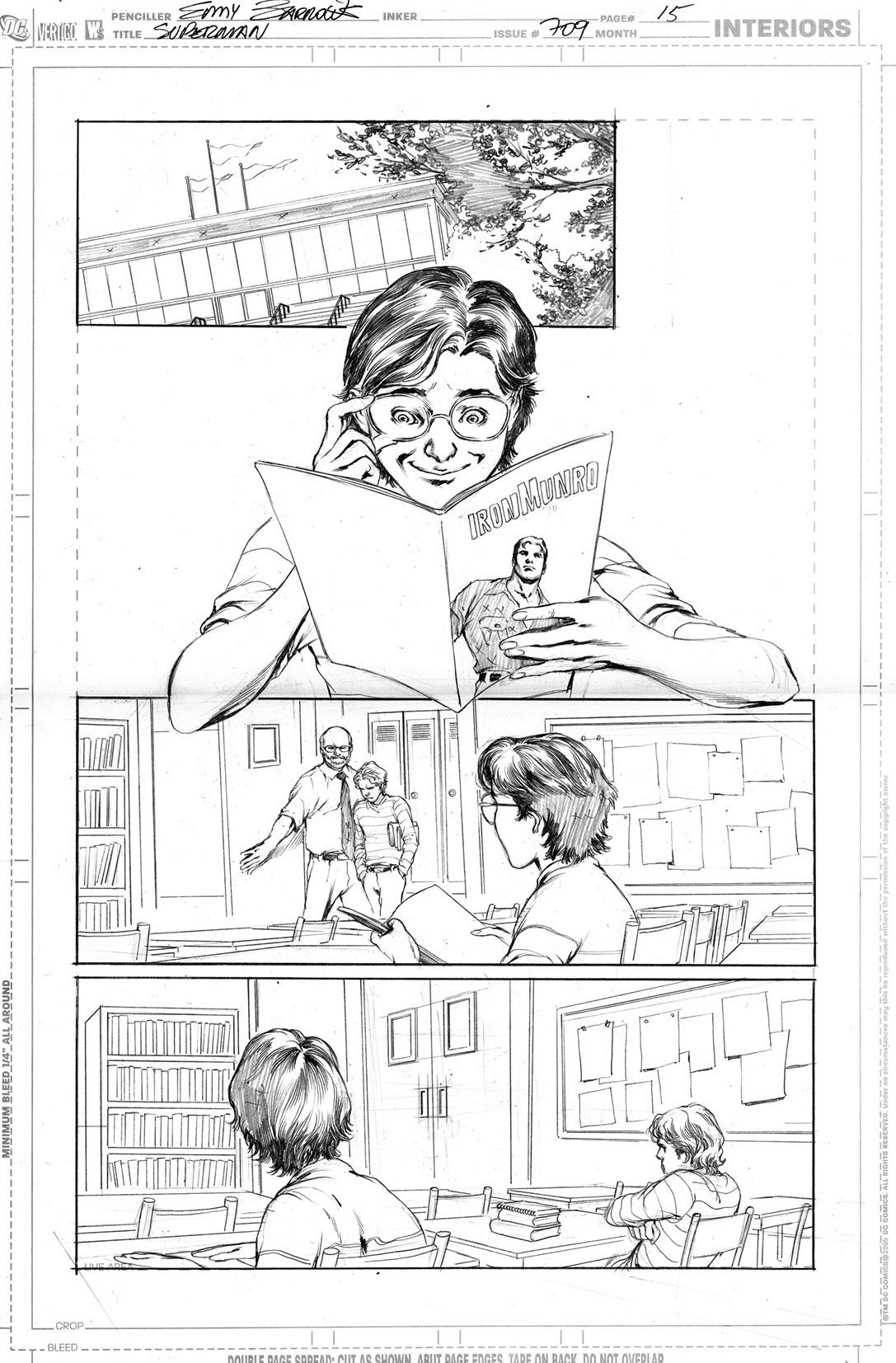 SUPERMAN 709, PAGE 15 by eddybarrows