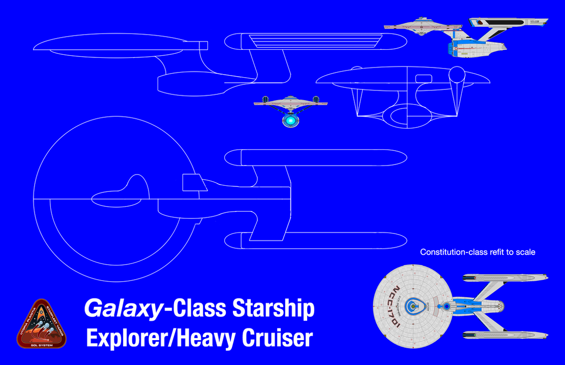 Galaxy Class Starship Redesign Blueprints By PeachLover94 ...