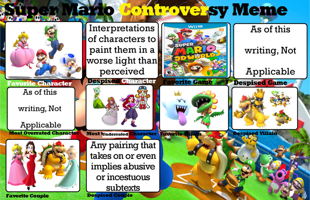 My Super Mario Controversy Meme By Peachlover94 On Deviantart