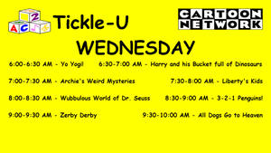 Dream CN Tickle-U Wednesday Lineup by PeachLover94