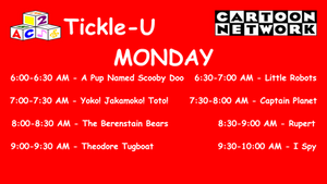 Dream CN Tickle-U Monday Lineup by PeachLover94