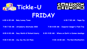 Dream CN Tickle-U Friday Lineup by PeachLover94