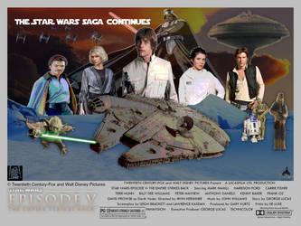 AU: Star Wars V - Quad Movie Poster by PeachLover94