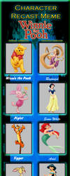 Winnie the Pooh Princess Character Recast Meme by PeachLover94