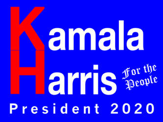 Concept Kamala Harris 2020 Sign by PeachLover94