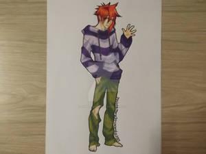 I actually coloured him