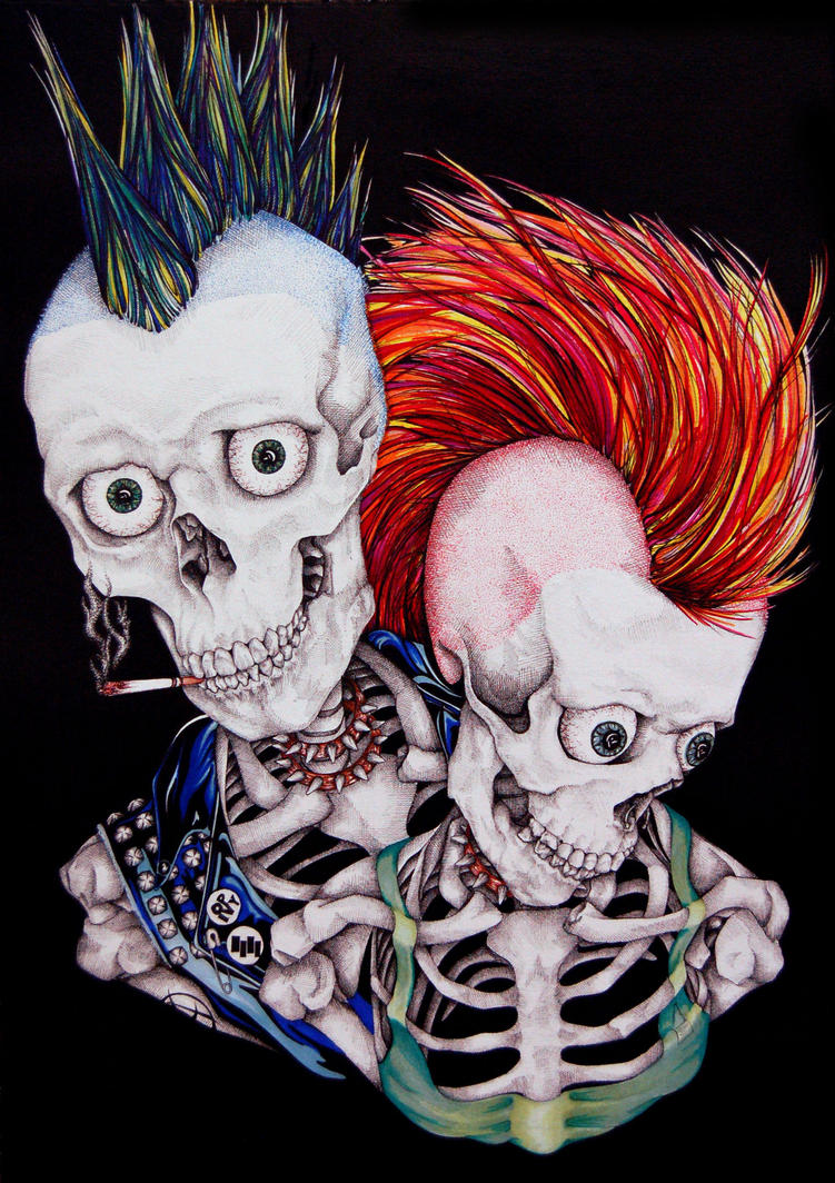 Punk's Not Dead by styrofoam-SKELLETON